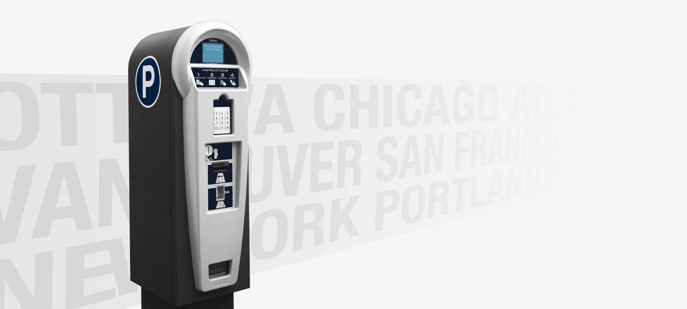 digital payment parking meter